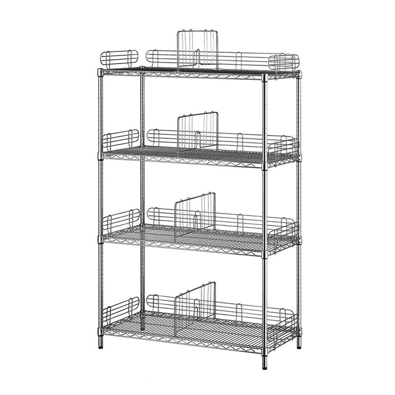 4-tier heavy duty wire shelving rack