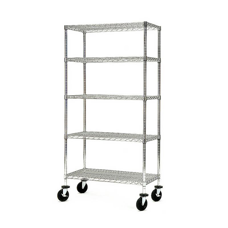 5-tier heavy duty wire shelving cart