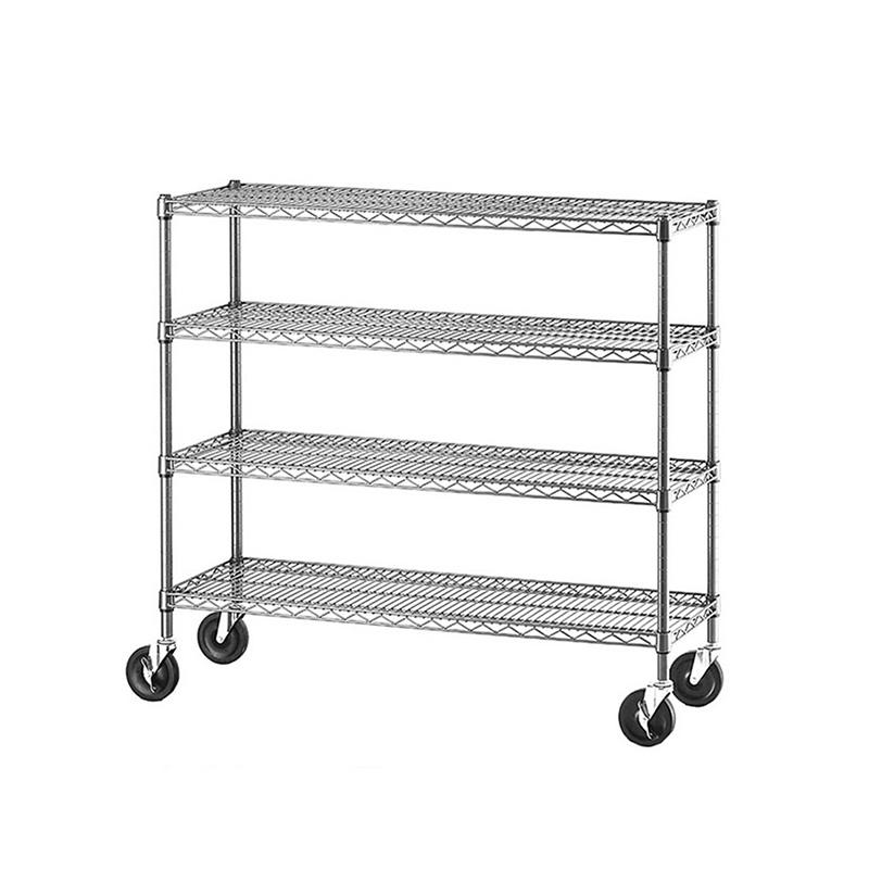 tier heavy duty wire shelving cart